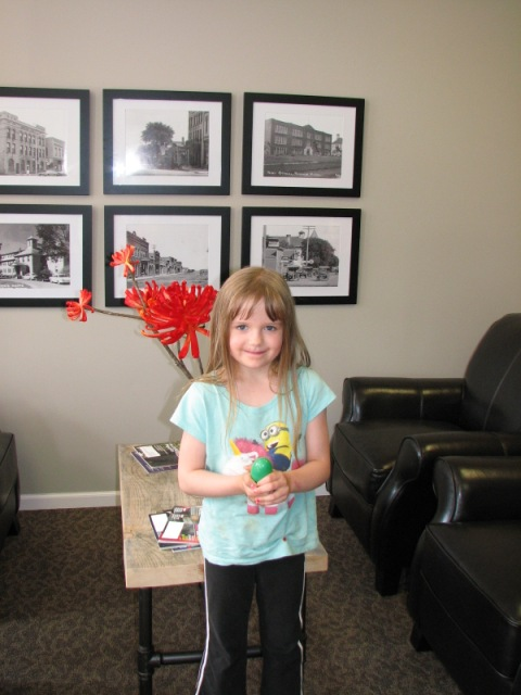 chamber egg hunt winner at our office 5-29-15